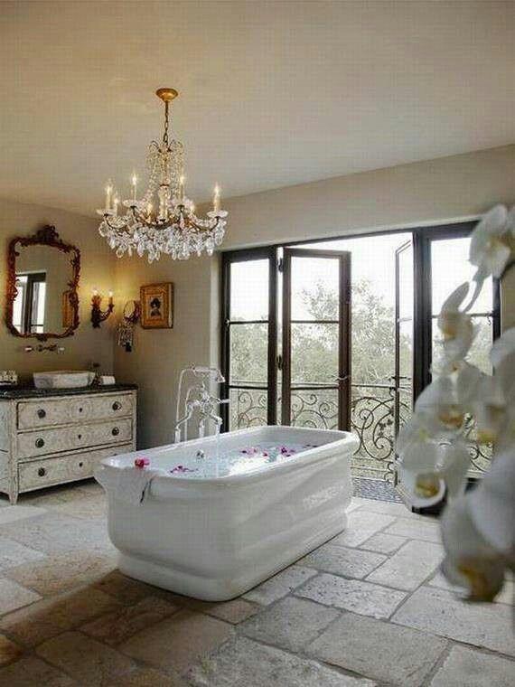 Beautiful Bathroom Chair Rail Specifics Please: Spa Bathroom Design