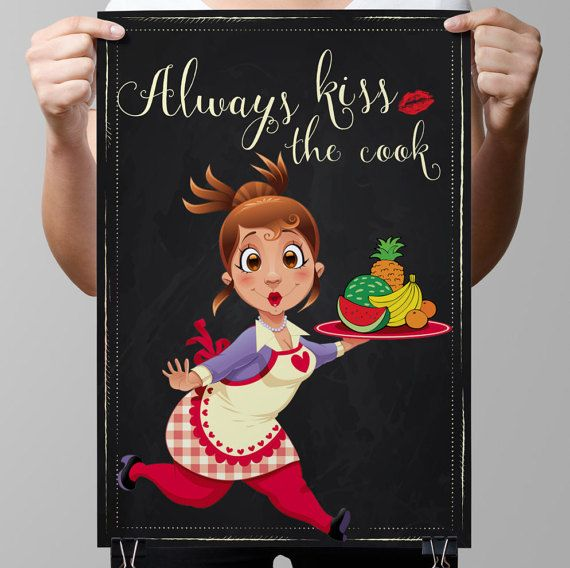 Kitchen Chalkboard-Cooking-Wife-Female by TimelessMemoryPrints