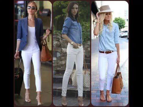 a33c938f679 Outfits Pantalon Blanco - YouTube
