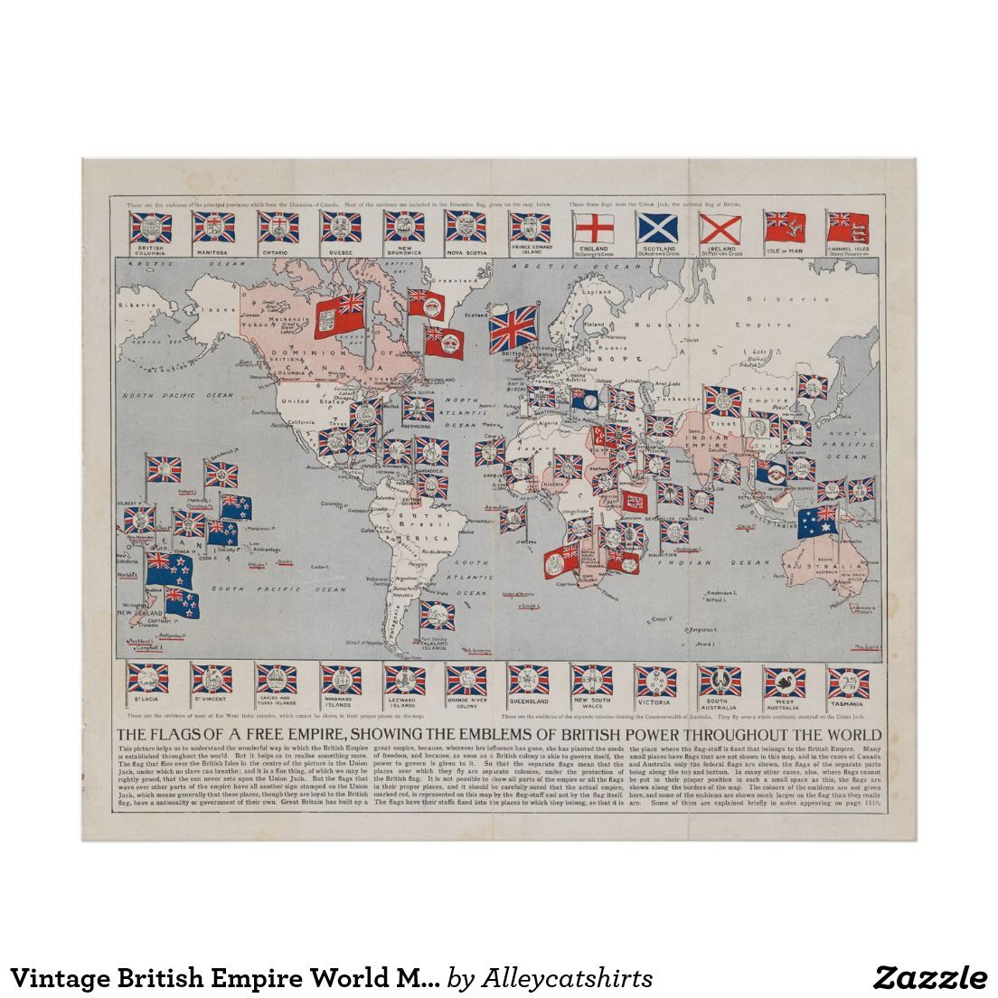 Vintage british empire world map 1910 poster vintage map vintage british empire world map 1910 poster gumiabroncs Gallery