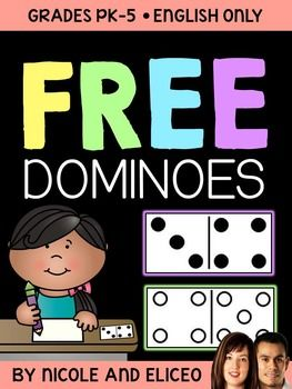 It Includes Both Standard Blackline And Blank Dominoes Templates You Can Use Them With Your Math Units Or Lessons During Centers Send Home