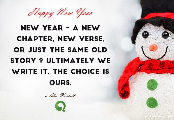 New Year – a new chapter, new verse, or just the same old story ...