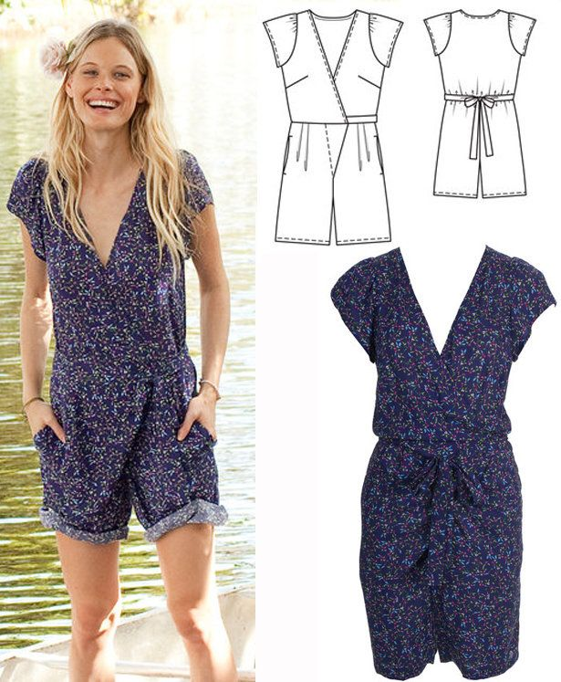 New at BurdaStyle Videos: How to Sew the Short Jumpsuit | sewing ...