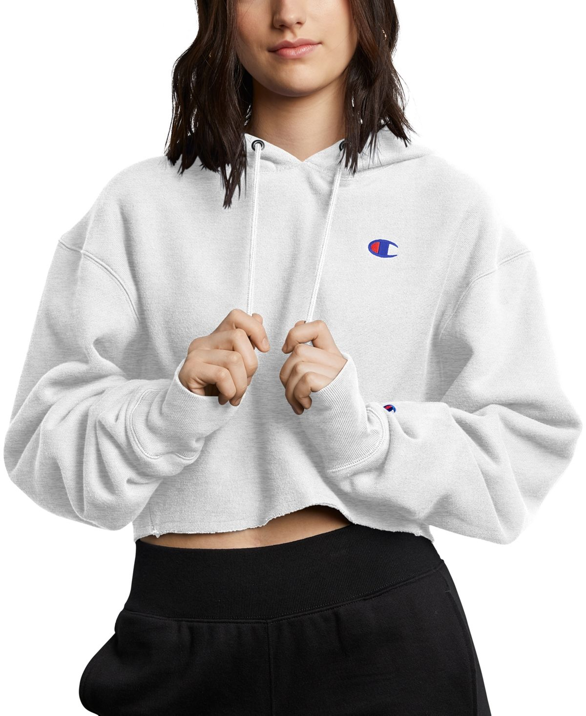 Champion Women S Reverse Weave Cropped Hoodie Gfs Silver Grey In 2021 Champion Clothing Cropped Hoodie Cropped Hooded Sweatshirt [ 1467 x 1200 Pixel ]