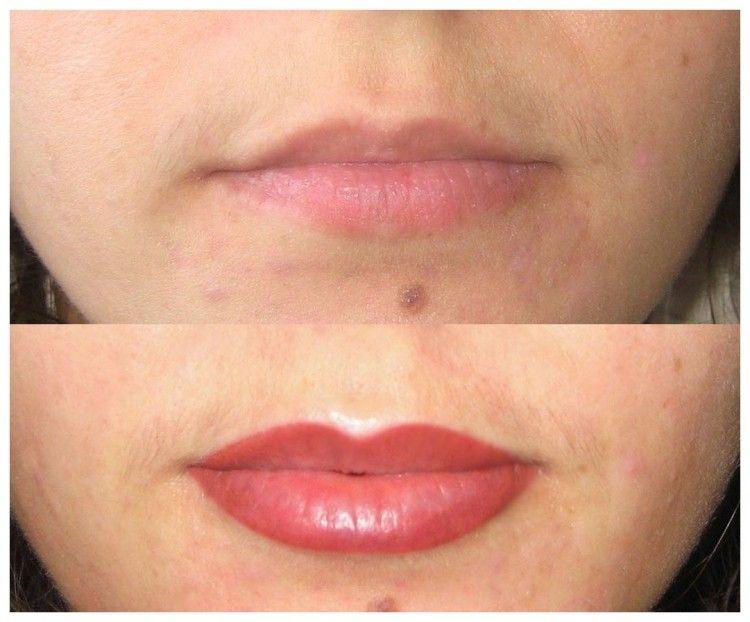 Permanent Make Up Lippen Endgultiges Ergebnis Lippen Permanent Make Up Make Up Lippen Lippen