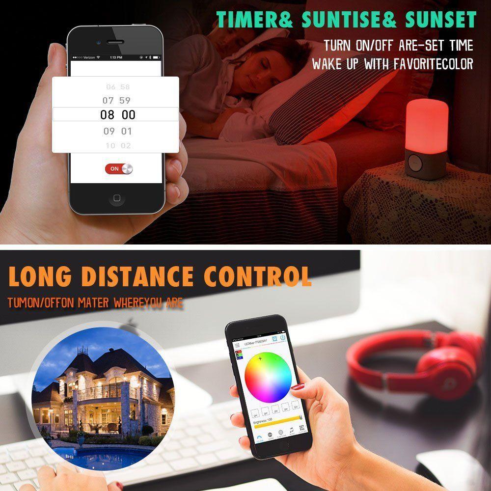 Led strip light alexa rgb controller wifi smart home voice