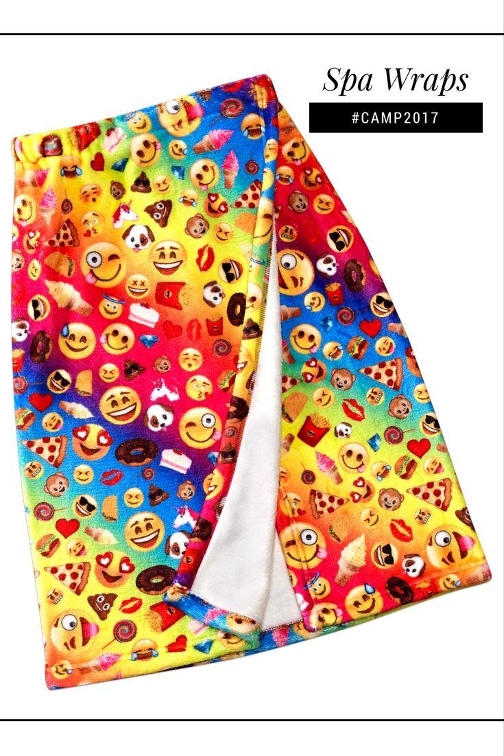 Super soft emoji spa wrap. Perfect gift for anyone headed
