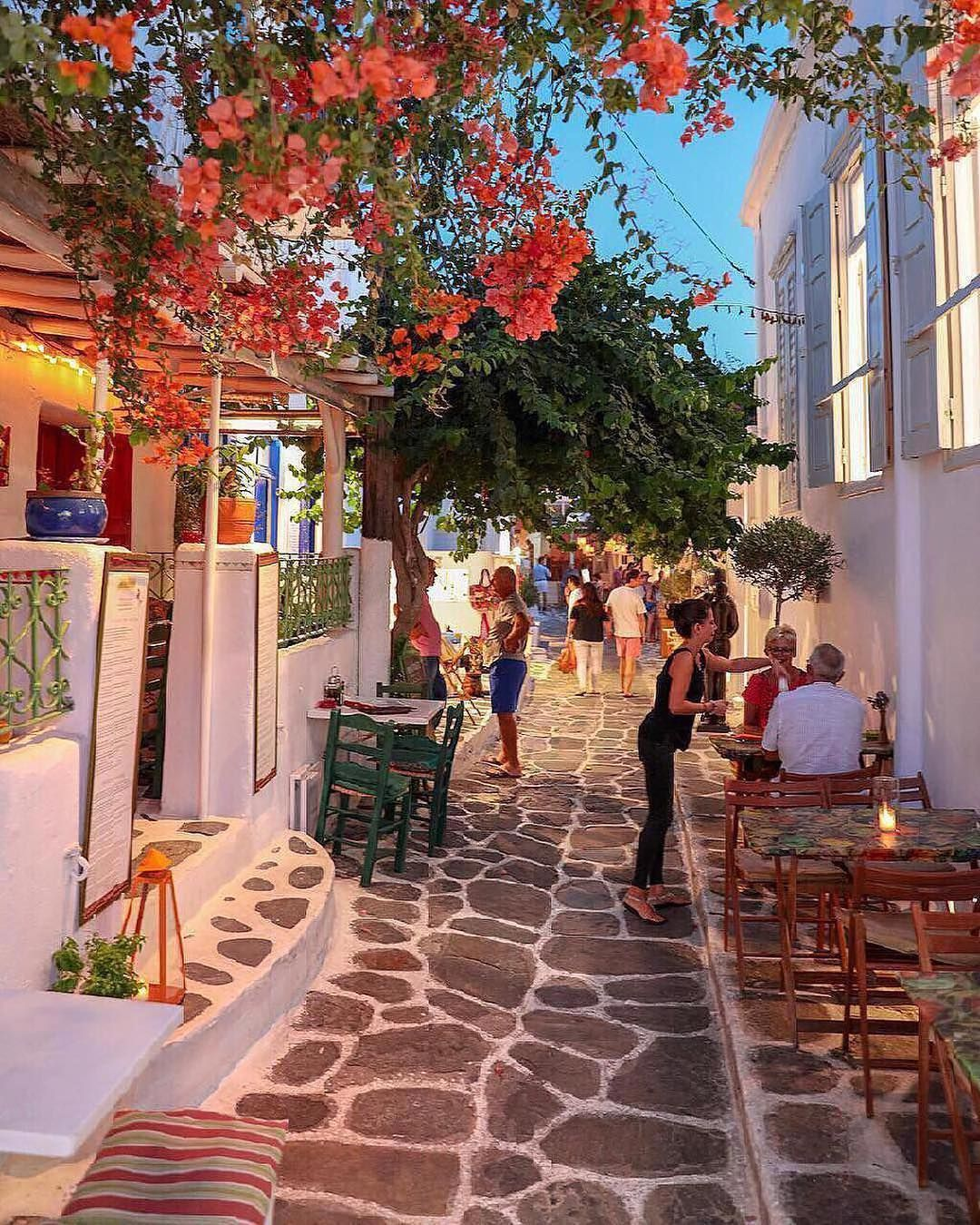 "Photo of Travel Vacations Nature on Instagram: ""Cozy corner ✨ Mykonos, Greece. Photo by @sennarelax"""