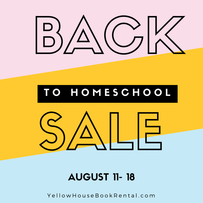 Back to Homeschool Sale is part of Teaching textbooks, Homeschool, Book rentals, Homeschool guide, Homeschool curriculum, Apologia science - We are celebrating another year of homeschool with an incredible sale! August 11th 18th Teaching Textbooks, Mystery of History, Sonlight, Life of Fred, Apologia Science, WriteShop, Notgras, Berean Builders and Playing with Plays  Rent and purchase homeschool curriculum at Yellow House Book Rental