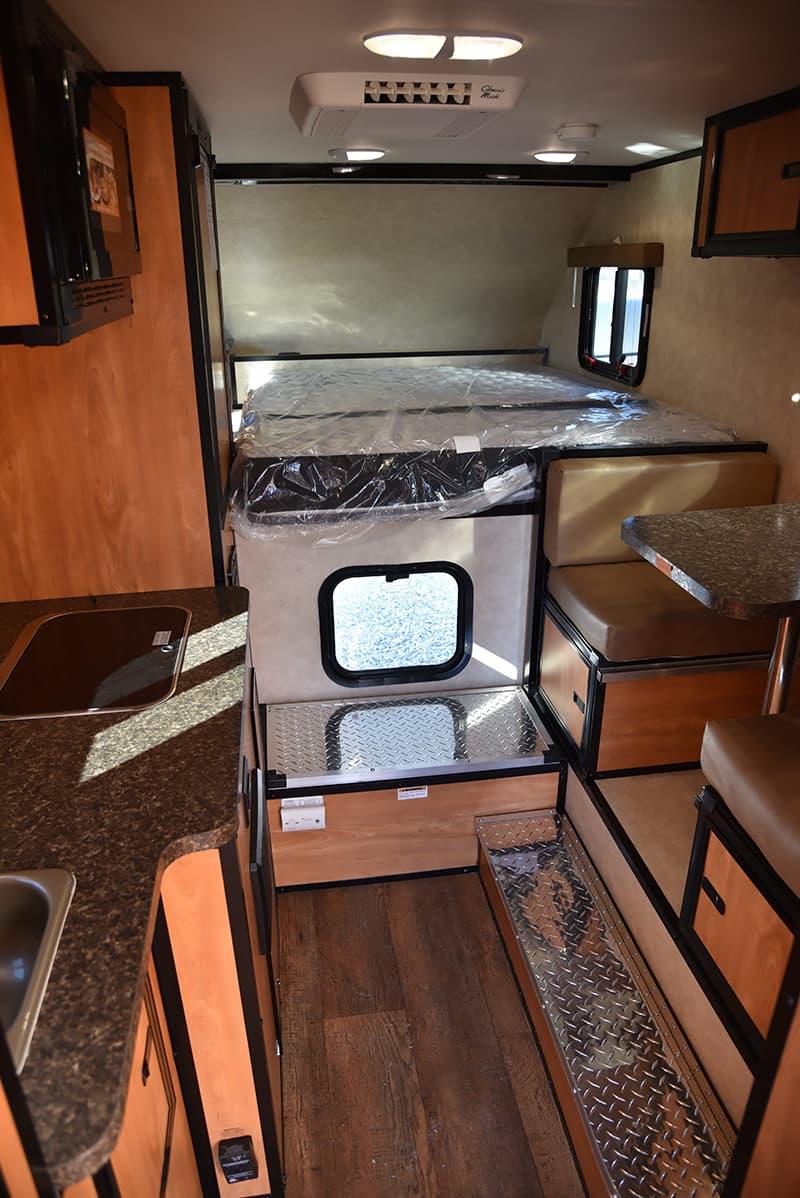 pop up truck camper interior Google Search Slide in