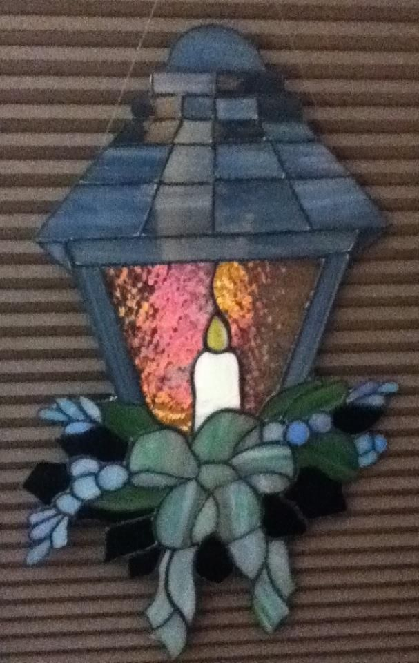Pewter Candle Lantern Glass Art by Natalie | Stain Glass | Pinterest ...