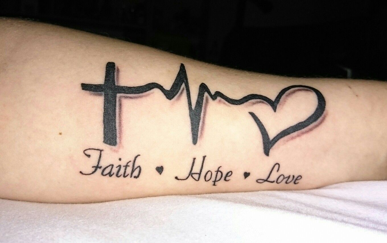25 Incredible Hope Tattoos - SloDive |Faith Hope Love Tattoo For Men