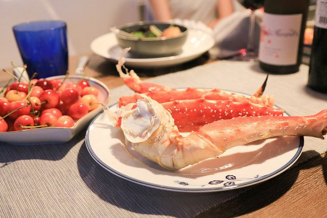 King Crab Leg from Costco  Steamed for 20 minutes at medium