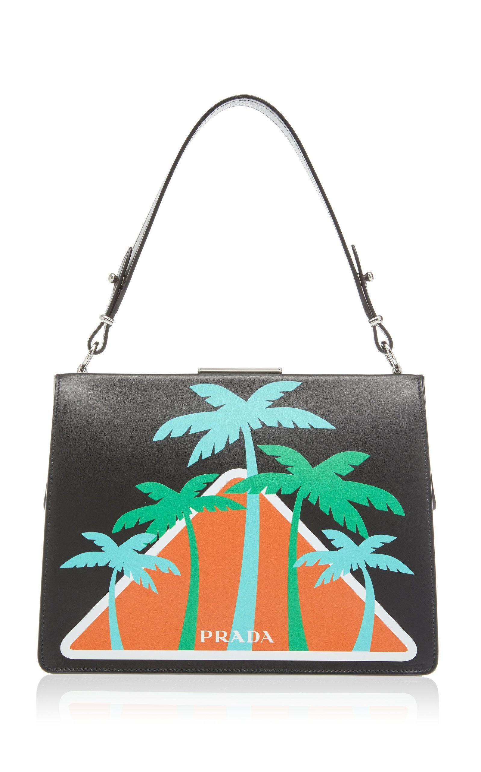 280dec5d5b2c City Calf Top Handle with Palm Trees | bizarre bags | Prada bag ...