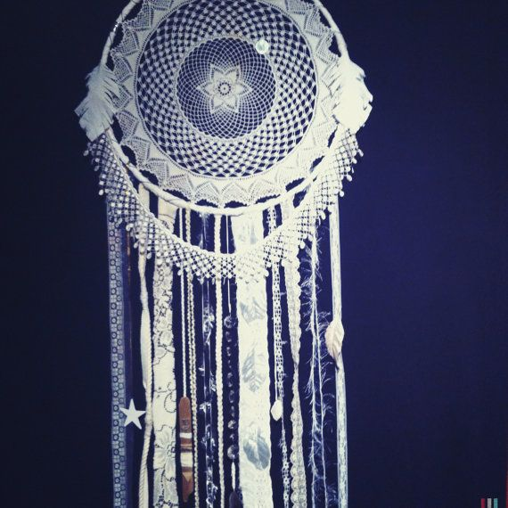 Huge Dream Catchers Custom Order Huge 40 inch WHITE DREAMCATCHER doily or woven your 23
