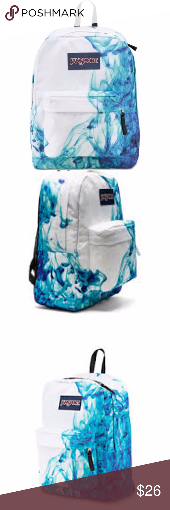 a39d5371826 White & Turquoise Jansport School Pack / Book Bag This is a brand ...