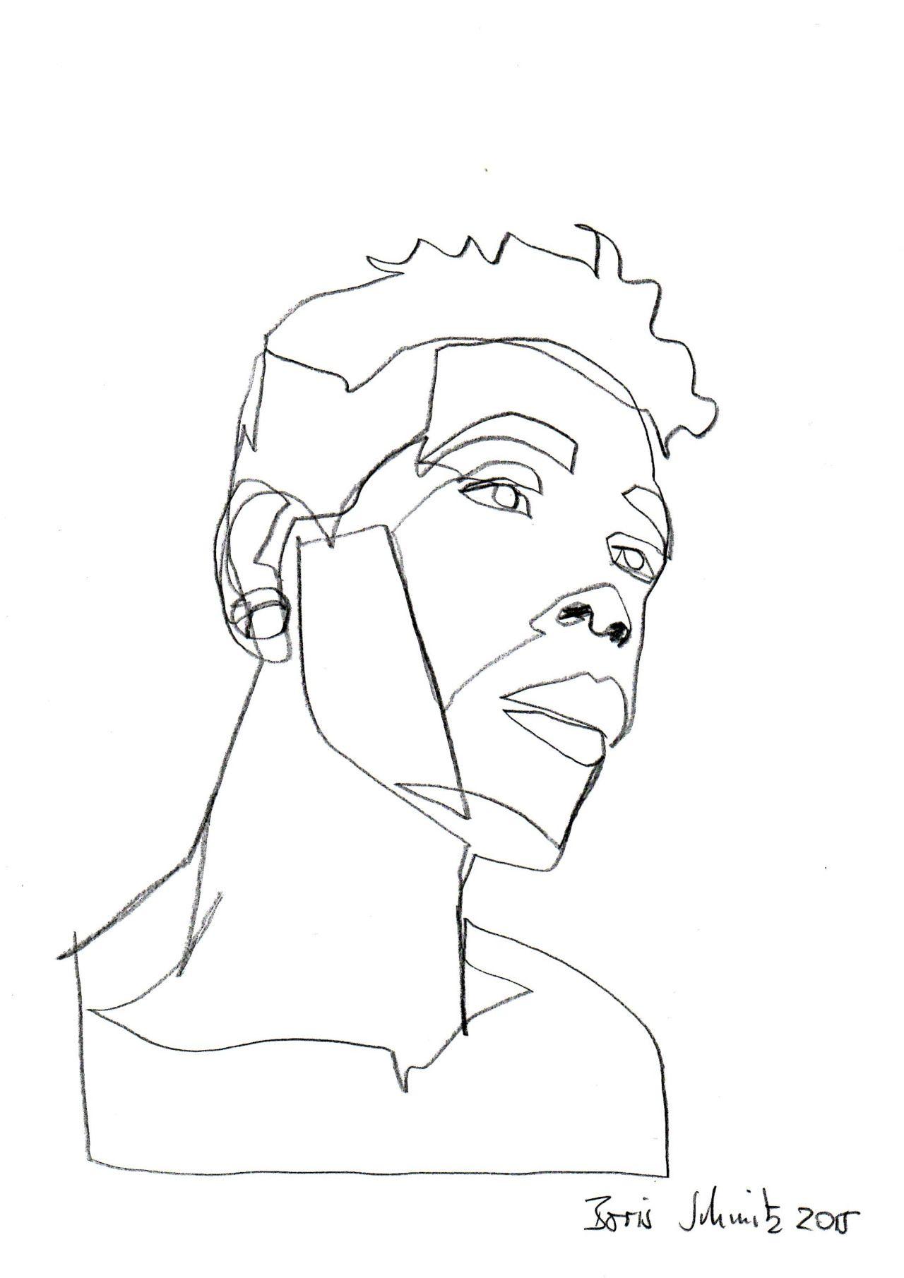 One continuous line drawing boris schmitz art for Art of minimal boris