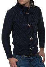 Uomo Elegante Cardigan da Maglione Maglia Spessa Maglioni Giacca Pullover Giacca a Maglia Invernale