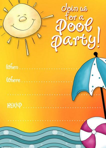 Printable Pool Party Invitations Do You Have A Fun Summer Pool Party
