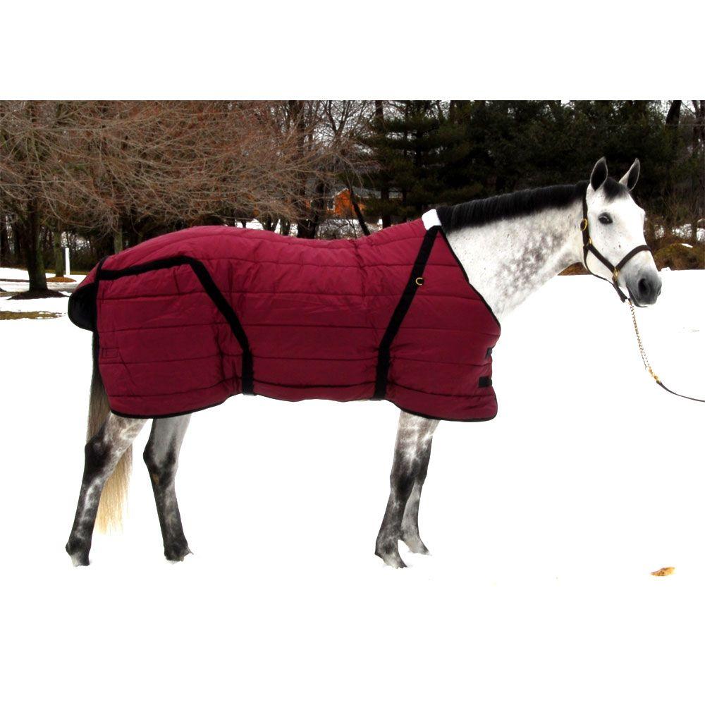 Snuggie Large Horse Stable Blanket Burgundy
