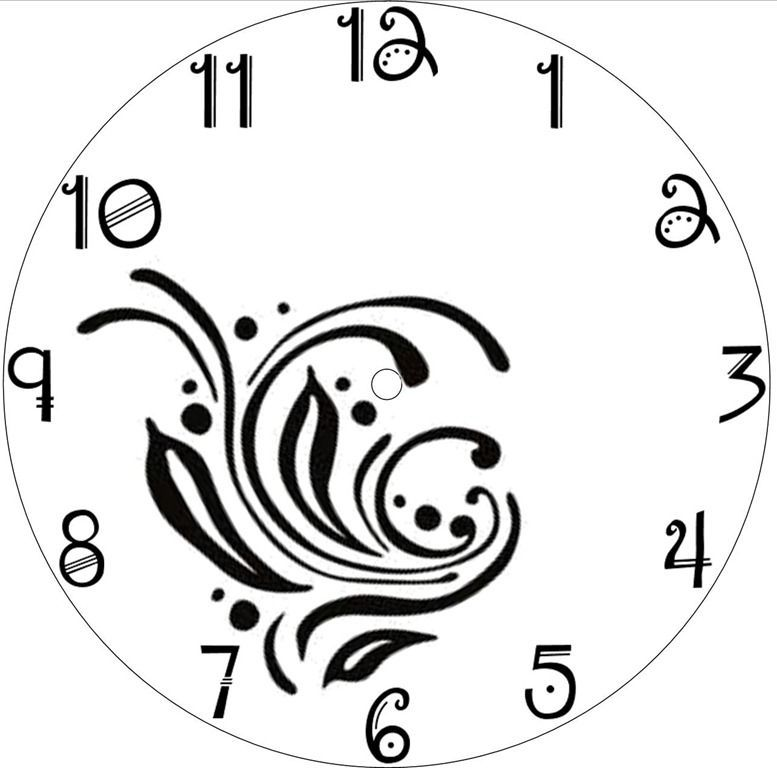 Square Clock Face Template Clock Templates Patterns Square Clock