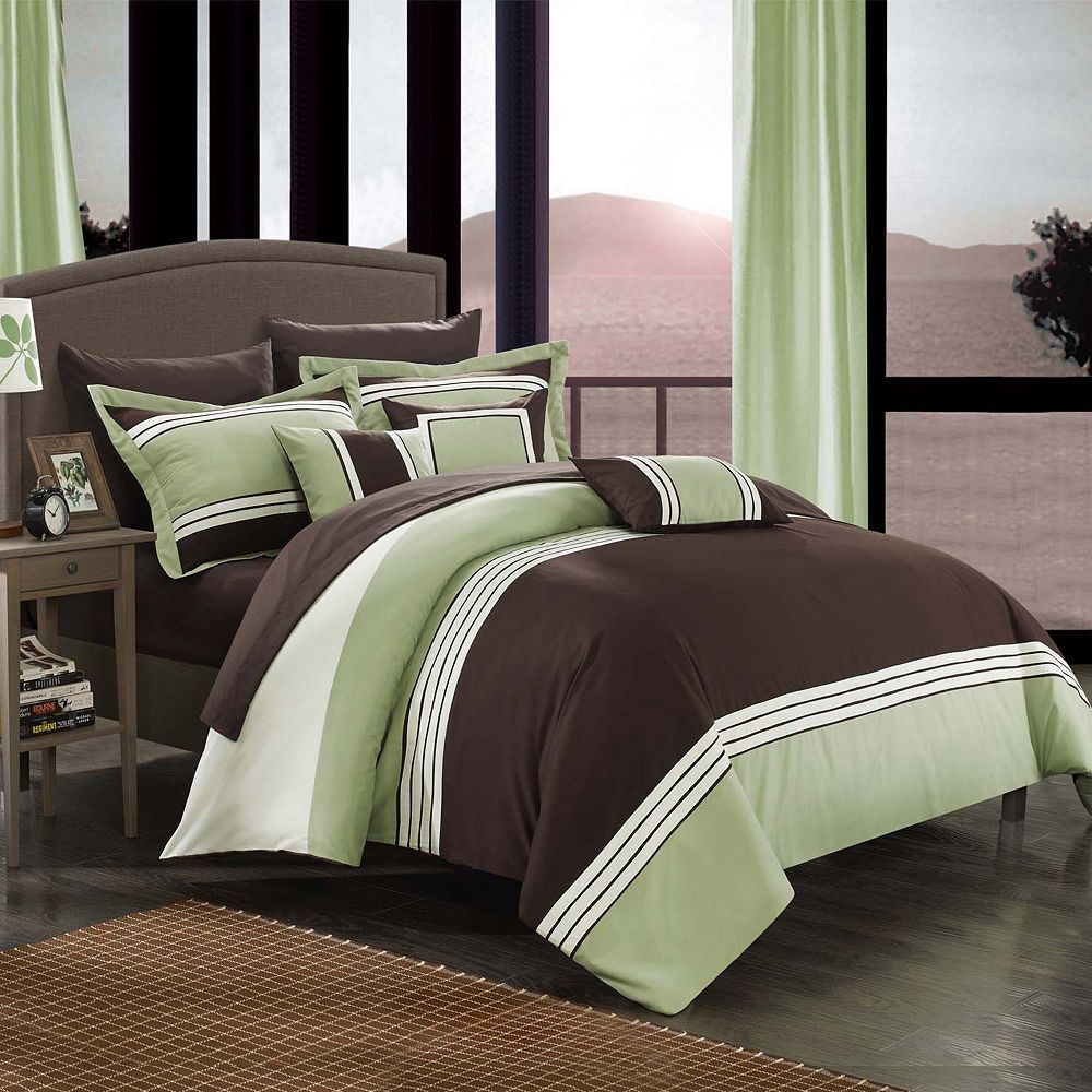 Chic Home Falcon 10 Piece Bed Set Bed Comforter Sets Comforter Sets Twin Bed Comforter Sets