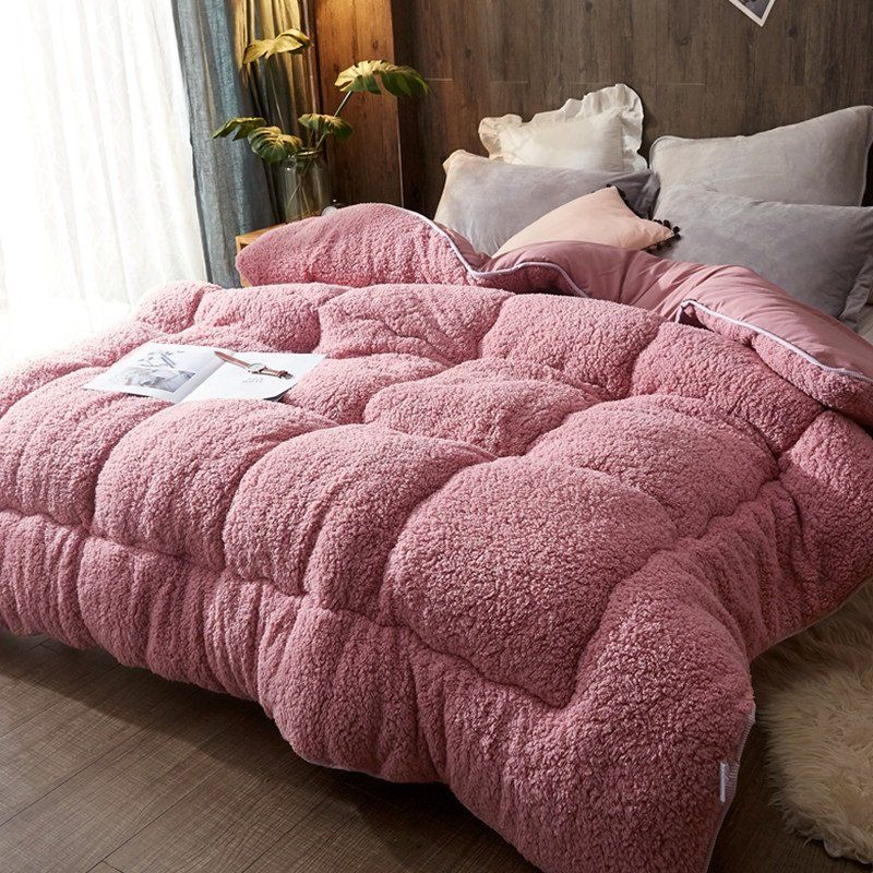 4kg Thicken Shearling Blanket Winter Soft Warm Bed Quilt For Bedding Twin Full Queen King Size Bed Comforter Sets Luxury Bedding Bed Linens Luxury