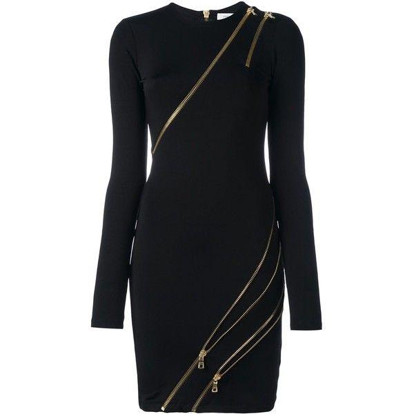 eb68080c6 con Polyvore vestidos vestido de ajustado cremallera negro gustó con Me y ❤  Vestido Pierre Balmain ...