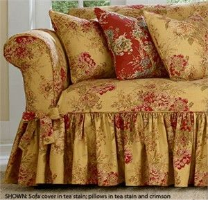 Surefit Ballad Bouquet Slipcover By Waverly One Piece Floral Pattern  Slipcover. Sofa, Loveseat, And Armchair Sizes.