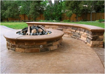 Seven Beautifying Features In Hardscape Design Fire Pit Backyard Backyard Fire Stone Fire Pit