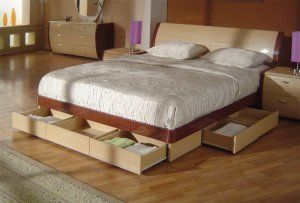 King Bed With Drawers Underneath Symphony King Size Modern