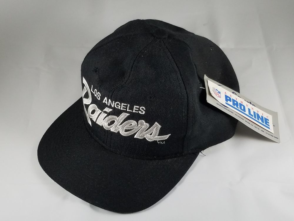 Vintage Collectible New Nos Los Angeles Raiders One Size Cap Hat Nfl Pro Line Sportsspecialties Losangelesraiders Vintage Cap Hats Nfl