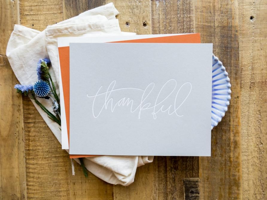 "Thankful 8""x10"" letter press art print by Lindsay Letters."