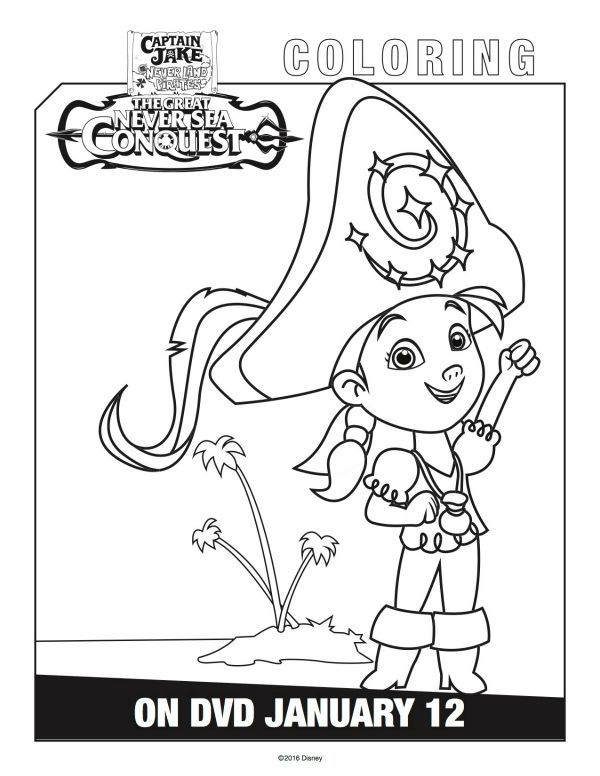 Disney Captain Jake And The Neverland Pirates Izzy Coloring Page Mama Likes This Pirate Coloring Pages Coloring Pages Disney Coloring Pages