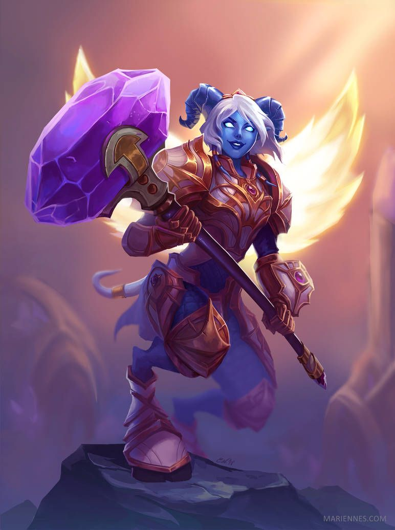 Yrel By Marianaennes With Images Warcraft Art Warcraft Races