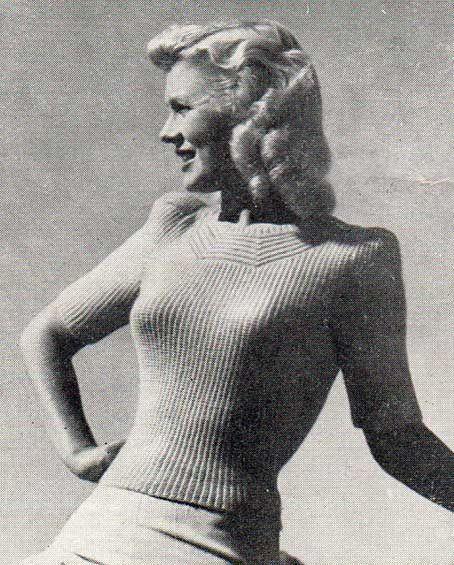 Free vintage knitting pattern - Coast line women's pullover.