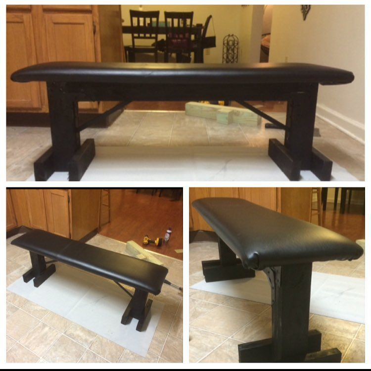 Superb Diy Bench Press Very Sturdy Benched 340Lbs On It Often Bralicious Painted Fabric Chair Ideas Braliciousco