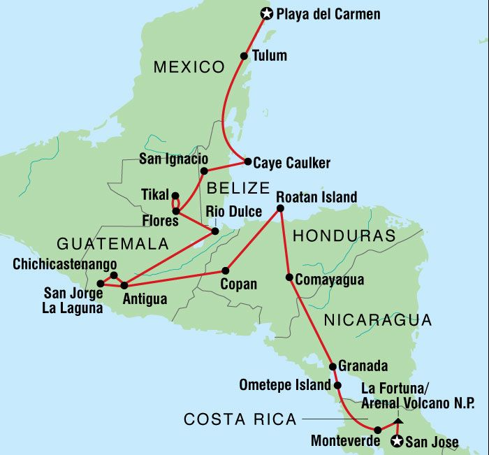 Backpacking In Central America: Central America