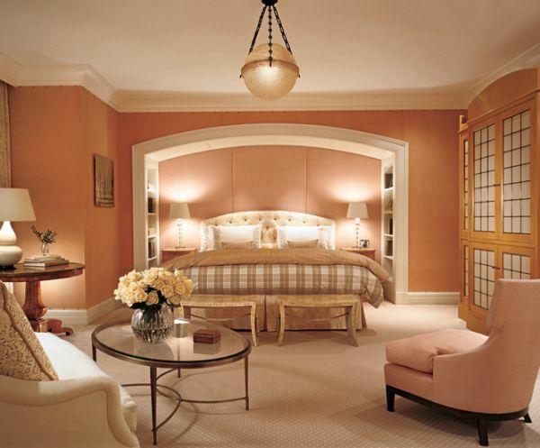 Feng Shui Schlafzimmer Farben Einrichtungsideen Pastellfarben Altrosa  Wandfarbe