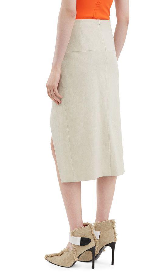 Acne Studios Karlotta Li Natural Below the knee skirt   SILHOUETTE ... d8d369831c0