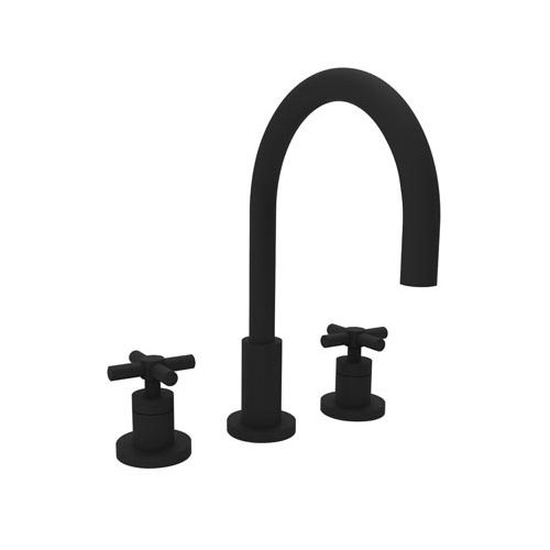 N990 56 East Linear 8 Widespread Bathroom Faucet Flat Black At
