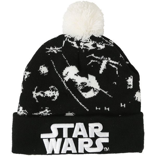 6d636b53991 Star Wars Tie Fighter Pom Beanie Hot Topic ( 20) ❤ liked on Polyvore  featuring accessories