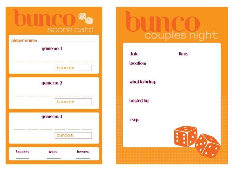 Bunco Printable  Free Printable And Food