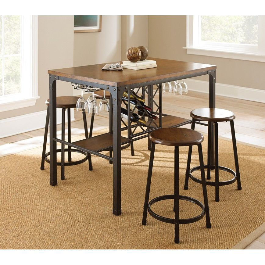 Pub Tables \u0026 Bistro Sets & Steve Silver Furniture Rebecca Counter Height Pub Table Set ...
