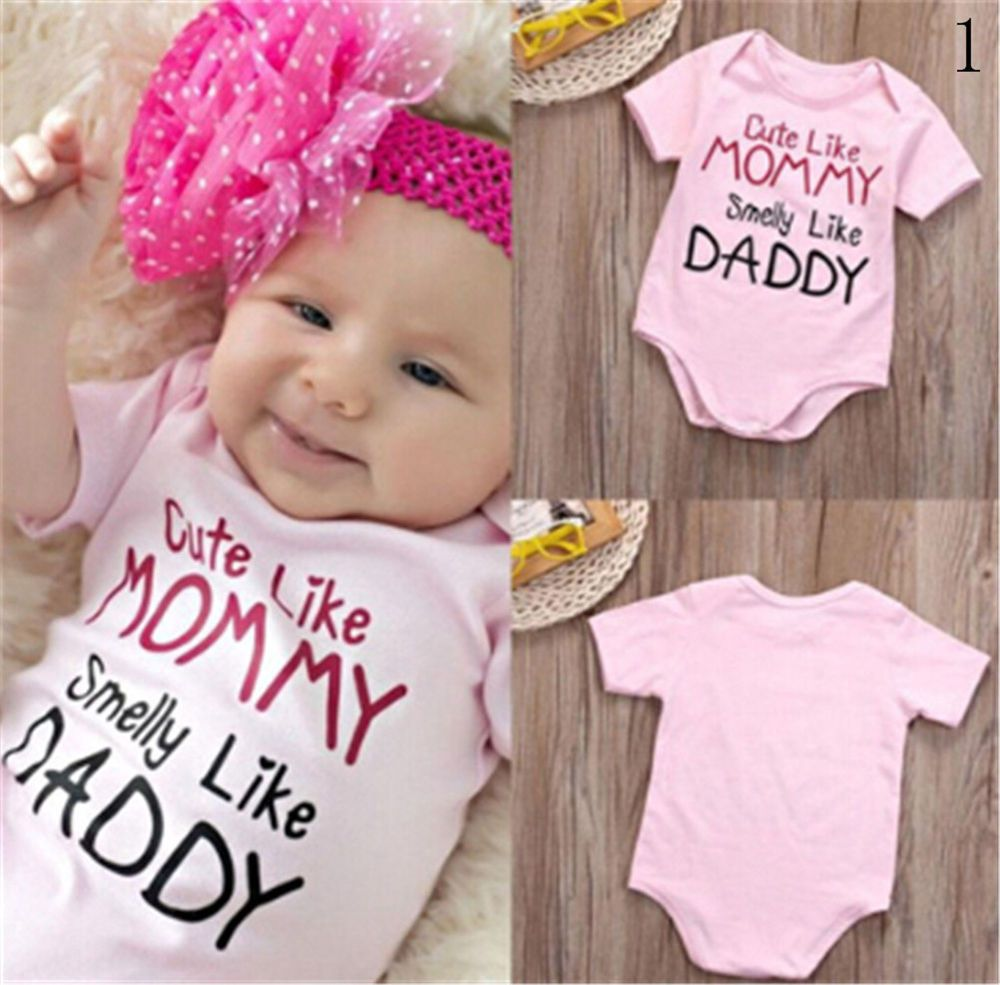 934f27b903bd Newborn Infant Baby Girls Romper Pink Bodysuit Jumpsuit Outfits Sunsuit  Clothes  fashion  clothing