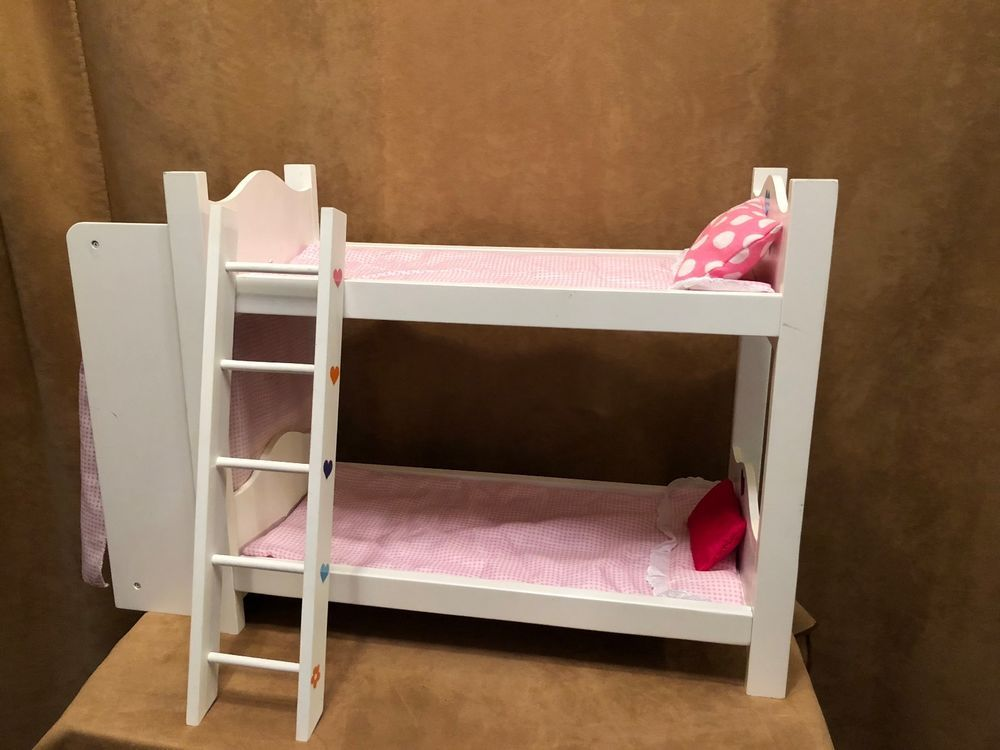 Doll Bunk Bed Closet White 18 Dolls American Girl Our Generation