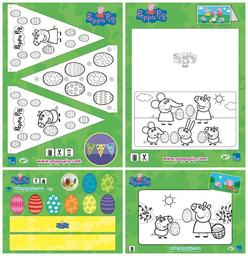 Peppa Pig Easter Craft Activities Peppa Pig Easter Easter Craft Activities Easter Crafts [ 973 x 940 Pixel ]