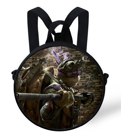9 Inch Cute Baby Round Backpack Bag For Kids Age Mutant