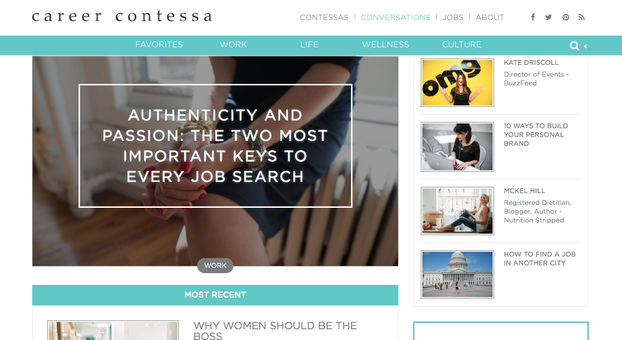 I Just Landed An Editorial Internship With Career Contessa This Site Is A Platform For Women To Seek Inspiration Career Counseling Career Contessa Job Search