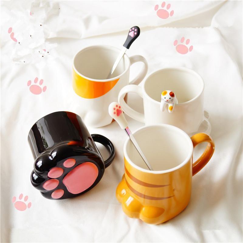 Kawaii Cat Paw Cup Ideias Para Canecas Canecas Bonitas Personalizacao De Canecas